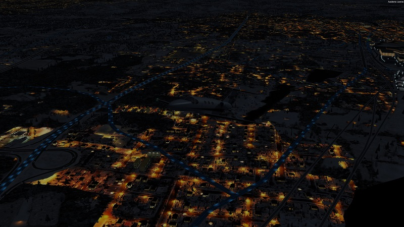 UTX 2 3 P3dV4 4 blue light road traffic - SimForums com