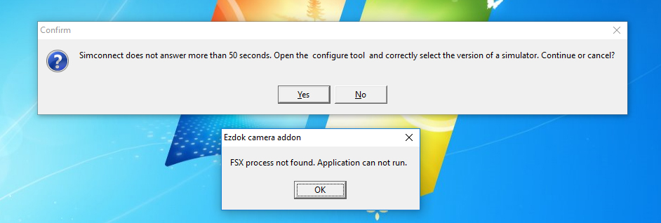 No connection between EzDok and FSX_SE - SimForums com Discussion