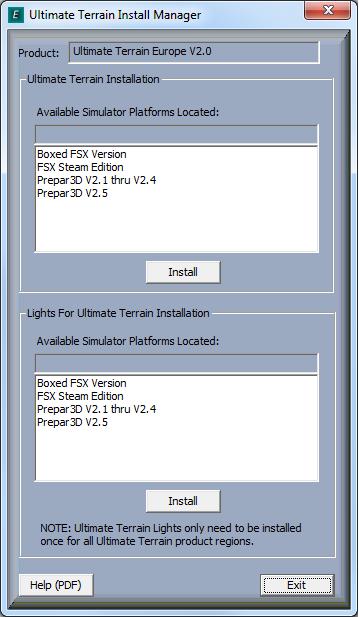 UTXEuropeV2 installation on FSXSE - SimForums com Discussion
